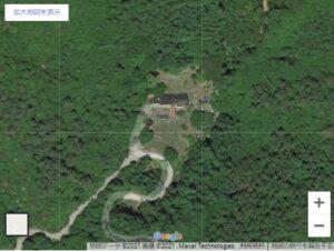 グーグルマップ上のポツンと一軒家